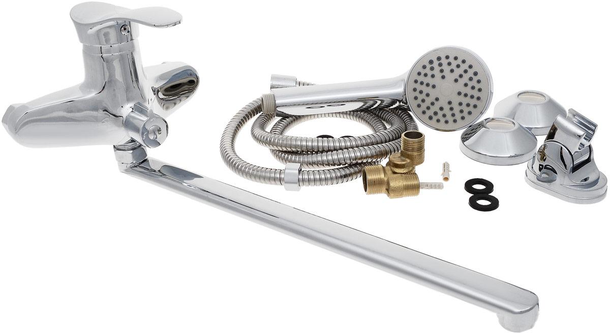 Смеситель для ванны и душа РМС, с длинным поворотным изливом, цвет: хром. SL38-006E655.01Смеситель для ванны РМС с коротким изливом предназначен для смешивания холодной и горячей воды, устанавливается на мойку. Выполнен из высококачественной латуни марки MS63 (63% медь, 36% цинк, свинец, железо, сурьма, висмут, 1% фосфор). Такая латунь обладает повышенной прочностью, коррозионной стойкостью, твердостью и устойчивостью к щелочам и разбавленным кислотам. Смеситель оснащен керамическим картриджем. Смеситель находится в закрытом состоянии, если ручка опущена до отказа. Поднятием ручки регулируется напор воды, а поворотом ручки достигается регулирование степени температуры воды: влево - горячей, вправо - холодной. Преимущество одноручкового смесителя заключается в том, что установленная вами температура воды сохраняется, если ручка при закрытии и следующем открытии не поменяла свое положение. Благодаря большой твердости и износоустойчивости керамических пластинок одноручковые смесители дольше служат, чем традиционные. Аэратор выполнен из пластика. Европереключение на душ. В комплекте: эксцентрики, отражатели, металлический шланг для душа длиной 1,5 м, пластиковая лейка для душа, крепление для лейки. Максимальное давление: 10 бар.Испытательное давление: 16 бар.Рекомендуемое давление: 1-5 бар, при давлении выше 6 бар рекомендуется использовать регулятор давления.Максимально допустимая температура: +80°С.Рекомендуемая температура: +65°С.Размер присоединения к угловому вентилю для умывальника: гайка 1/2.Кран-букса керамическая: 1/2. Размер картриджа: 40 мм.