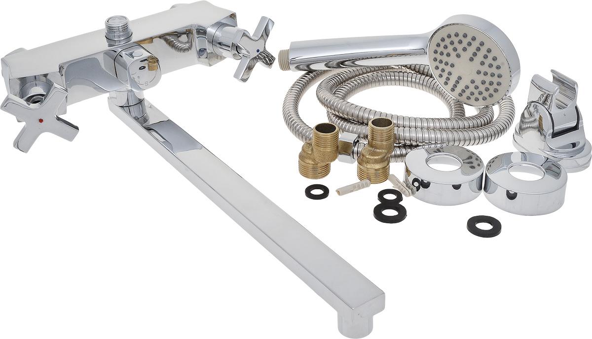 Смеситель для ванны РМС, с длинным поворотным изливом, цвет: хром. SL74-140E-1 смеситель для кухни рмс sl77w 017f 1