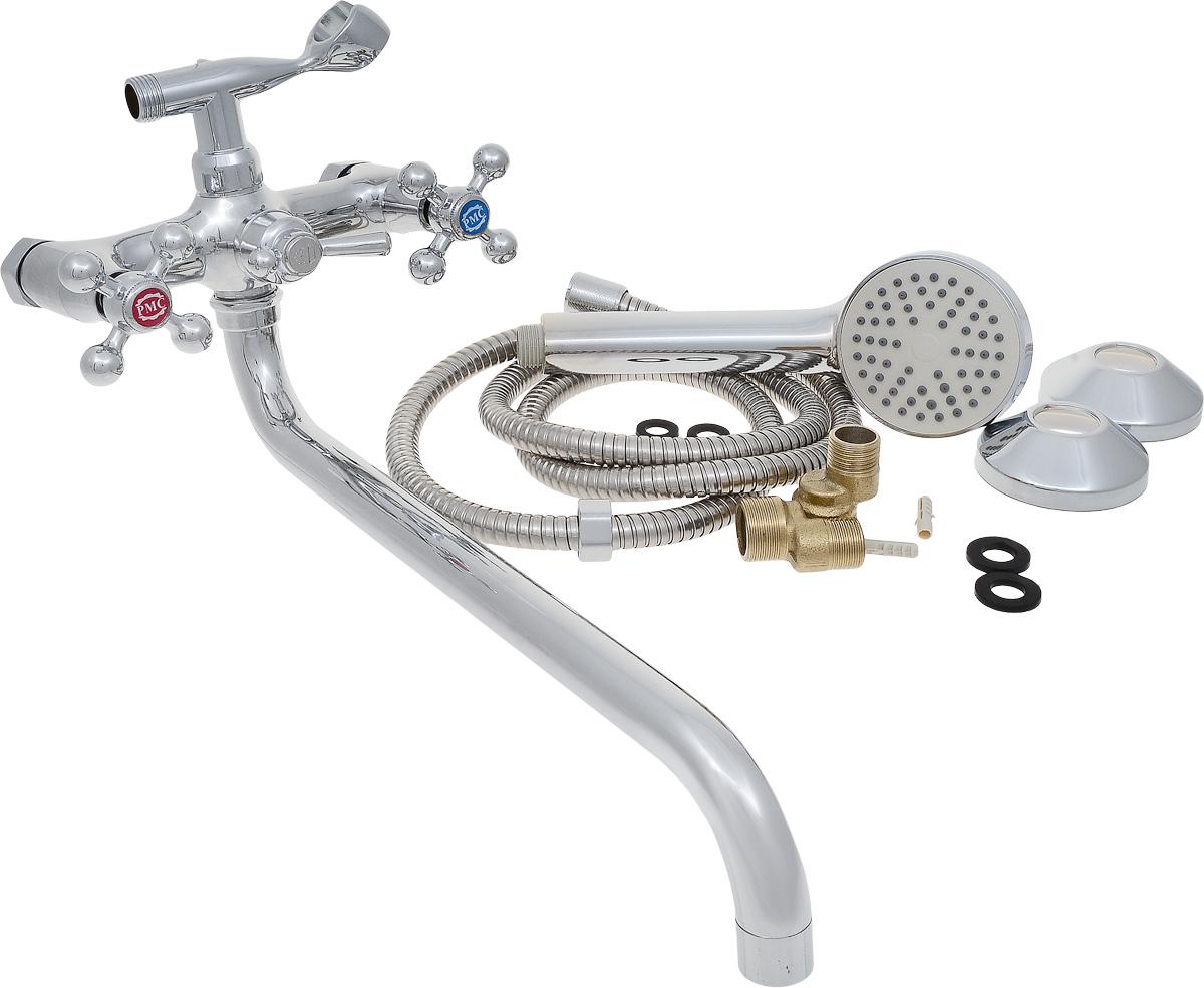 Смеситель для ванны РМС, с длинным поворотным изливом, цвет: хром. SL67-143SL67-143Смеситель для ванны РМС с длинным поворотным изливом предназначен для смешивания холодной и горячей воды. Латунные кран- буксы обеспечивают точную регулировку температуры воды за счет максимального поворота на 180°. Хромоникелевое покрытие придает изделию яркий металлический блеск и эстетичный внешний вид. Устойчив к кислотным и щелочным чистящим средствам. Выполнен из высококачественной латуни марки MS63 (63% медь, 36% цинк, свинец, железо, сурьма, висмут, 1% фосфор). Шаровое переключение на душ. Максимальное давление: 10 бар. Испытательное давление: 16 бар. Рекомендуемое давление: 1-5 бар, при давлении выше 6 бар рекомендуется использовать регулятор давления. Максимально допустимая температура: +80°С. Рекомендуемая температура: +65°С. Размер присоединения к угловому вентилю для умывальника: гайка 1/2. Кран-букса керамическая: 1/2.