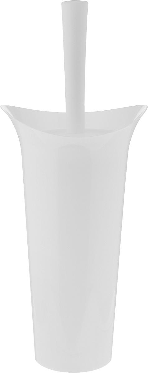Ершик для унитаза Idea Лотос, с подставкой, цвет: белый, высота 36 см96515412Ершик для унитаза Idea Лотос выполнен из пластика с жестким ворсом. Он хранится в специальной подставке, а также оснащен крышкой, которая плотно прилегает к подставке. Ерш отлично чистит поверхность, а грязь с него легко смывается водой.Стильный дизайн изделия притягивает взгляд и прекрасно подойдет к интерьеру туалетной комнаты.Длина ершика (с ручкой): 36 см. Размер рабочей части ершика: 7 х 7 х 8 см.Размер подставки: 12,5 х 15 х 27 см.