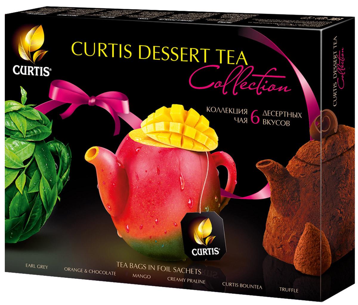 Curtis Dessert Tea Collection чайное ассорти, 30 шт0120710Curtis Dessert Tea Collection - коллекция чая с десертными вкусами. Сочетание великолепного чая и вкусов знаменитых десертов рождает новую изысканную форму удовольствия. Утонченные ароматы и соблазнительные вкусы: шоколадный, фруктовый, карамельный и т.д.Уважаемые клиенты! Обращаем ваше внимание на то, что упаковка может иметь несколько видов дизайна. Поставка осуществляется в зависимости от наличия на складе.