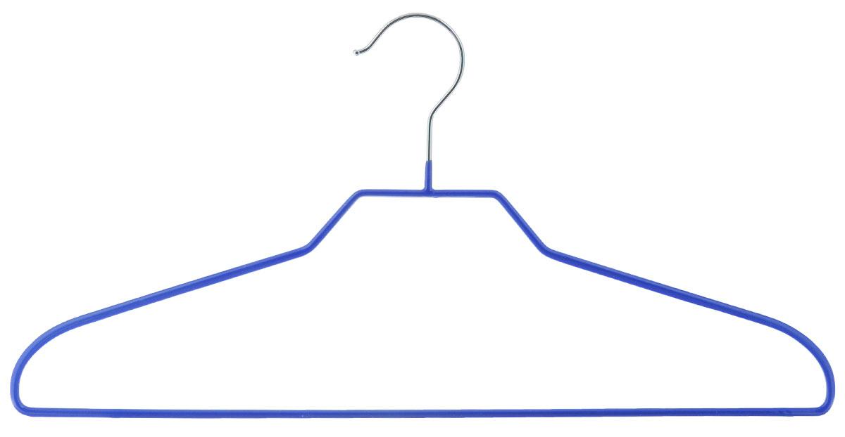 Вешалка Miolla Эконом, цвет: синий, длина 41 смS03301004Вешалка Miolla Эконом выполнена из прочного металла и оснащена перекладиной с противоскользящим покрытием. Вешалка - это незаменимая вещь для того, чтобы ваша одежда всегда оставалась в хорошем состоянии.