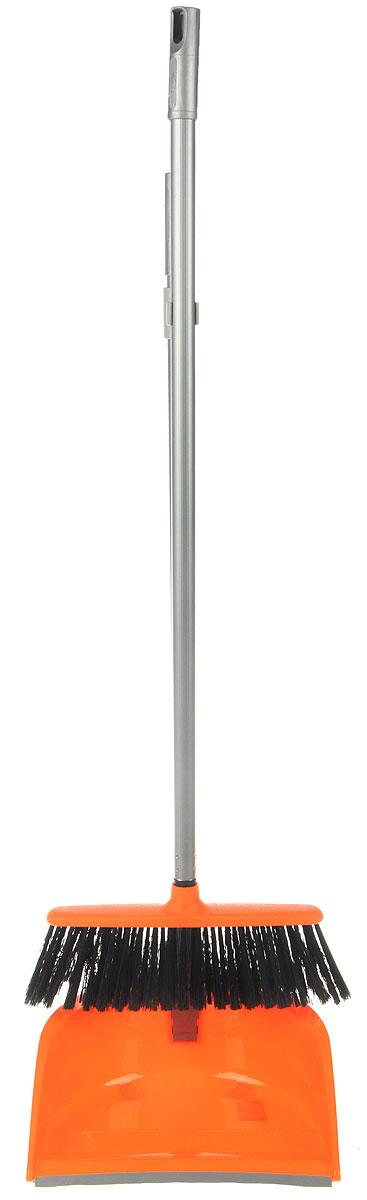 Набор для уборки Idea Ленивка. Люкс, цвет: оранжевый, серый, 2 предметаМ 5179Набор для уборки Idea Ленивка. Люкс состоит из совка и щетки, изготовленных из высококачественного пластика. Вместительный совок удерживает собранный мусор и позволяет эффективно и быстро совершать уборку в любом помещении. Сглаженный край совка обеспечивает наиболее плотное прилегание к полу. Щетка имеет удобную форму, позволяющую вымести мусор даже из труднодоступных мест. Совок и щетка оснащены длинными ручками с отверстиями для подвешивания. С набором Idea Ленивка. Люкс уборка станет легче и приятнее. Общая длина щетки: 81 см. Ширина рабочей части щетки: 25 см. Длина совка: 80 см. Размер рабочей части совка: 25,5 х 25 х 10 см.
