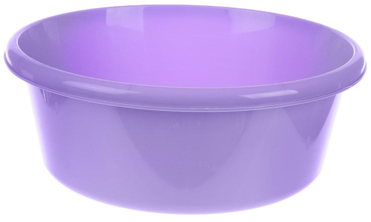 Таз Idea, круглый, цвет: лиловый, 8 л10503Таз Idea выполнен из прочного пластика. Он предназначен для стирки и хранения разных вещей. Также в нем можно мыть фрукты. Такой таз пригодится в любом хозяйстве.Диаметр таза (по верхнему краю): 30 см. Высота стенки: 14 см.