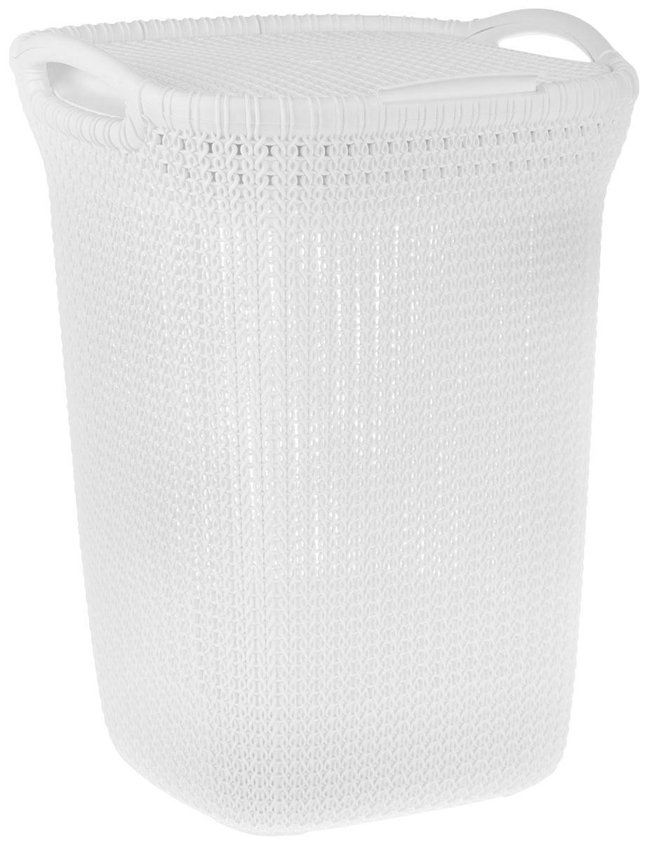 Корзина для белья Curver Knit, цвет: молочный, 57 л03676-X64-00Корзина для белья Curver Knit изготовлена из пластика с эффектом плетения. Изделие снабжено двумя ручками для удобной переноски и плотно закрывающейся откидной крышкой. Благодаря перфорированным стенкам воздух проникает внутрь, что способствует вентиляции. Такая корзина прекрасно подойдет для хранения белья перед стиркой. Стильный дизайн впишется в интерьер любой ванной комнаты.