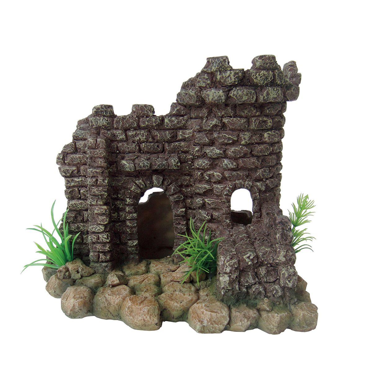 Декорация для аквариума ArtUniq Руины крепости, 20 x 17 x 17,5 см декорация для аквариума artuniq пористый камень 20 5 x 10 5 x 18 8 см