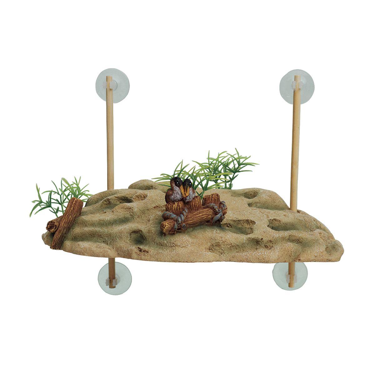 Декорация для аквариума ArtUniq Островок для черепах, на присосках, 24,5 x 11,5 x 7,5 см0120710Декорация для аквариума ArtUniq Островок для черепах, на присосках, 24,5 x 11,5 x 7,5 см