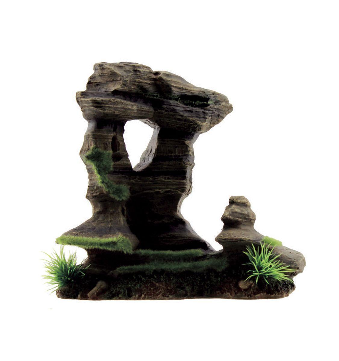 Декорация для аквариума ArtUniq Фигурная скала со мхом, 20 x 11,5 x 19,5 см0120710Декорация для аквариума ArtUniq Фигурная скала со мхом, 20 x 11,5 x 19,5 см