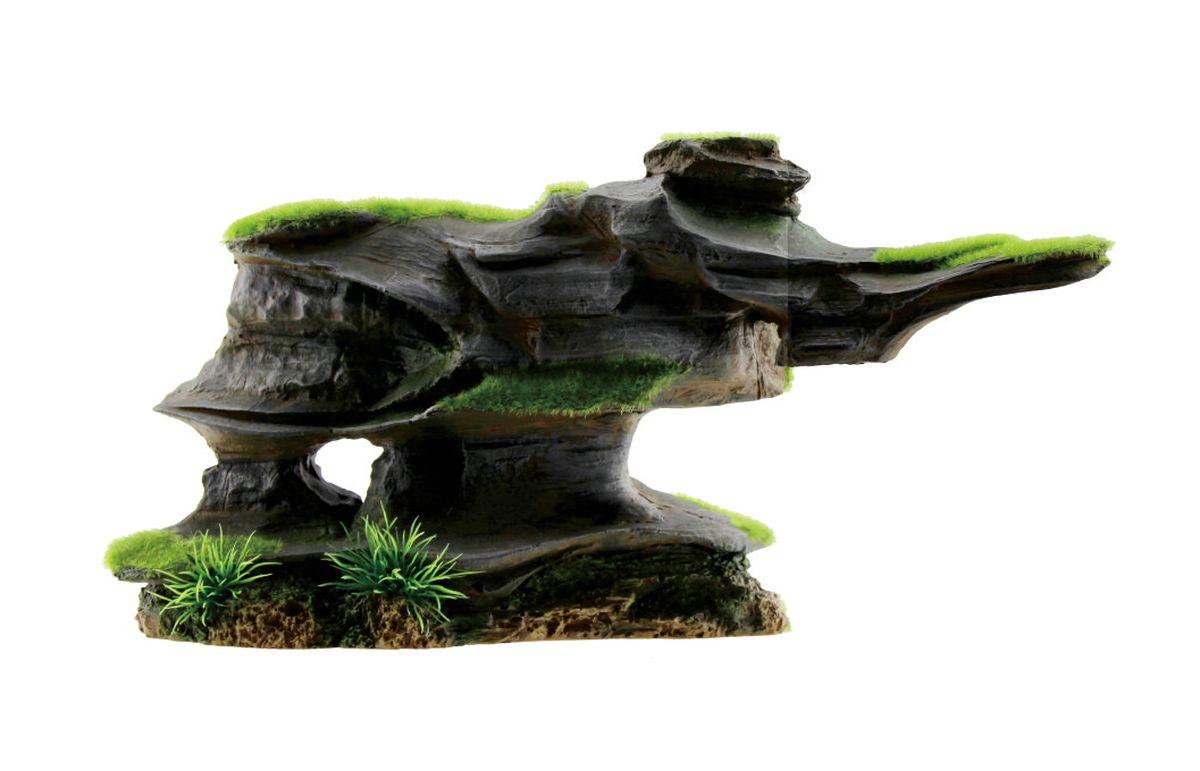 Декорация для аквариума ArtUniq Фигурная скала со мхом, 31 x 10 x 16 см декорация для аквариума artuniq пористый камень 20 5 x 10 5 x 18 8 см