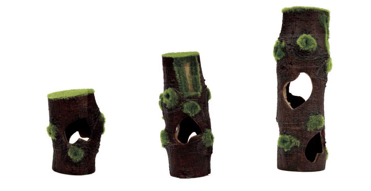 Декорация для аквариума ArtUniq Пни со мхом, 7,3 x 7,3 x 20 см декорация для аквариума artuniq пористый камень 20 5 x 10 5 x 18 8 см