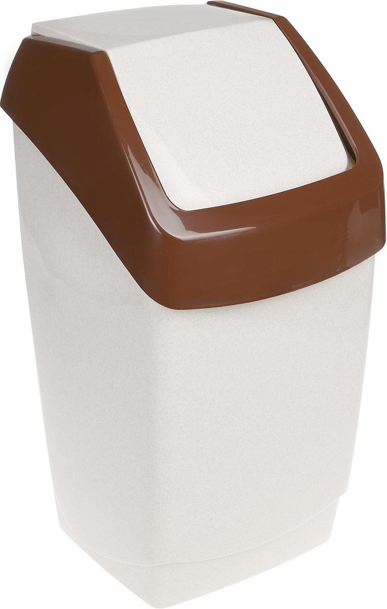 Контейнер для мусора Idea Хапс, цвет: бежевый, коричневый, 25 лМ 2472Контейнер для мусора Idea Хапс изготовлен из прочного полипропилена (пластика). Контейнер снабжен удобной съемной крышкой с подвижной перегородкой. Благодаря лаконичному дизайну такой контейнер идеально впишется в интерьер и дома, и офиса. Размер контейнера: 29 х 28 х 54 см.