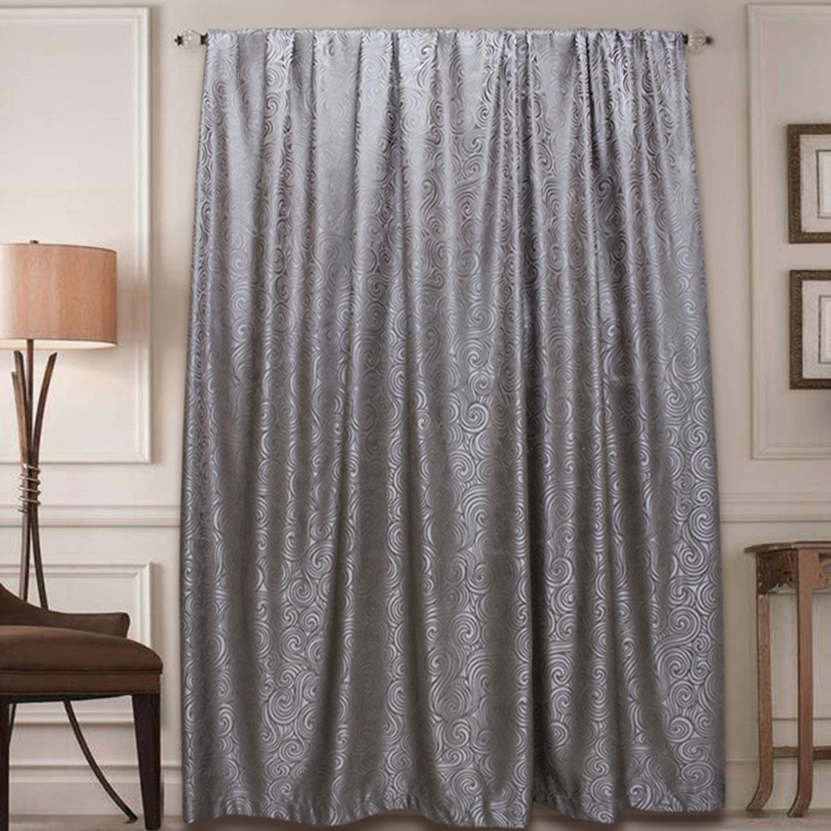 Штора Amore Mio, на ленте, цвет: серый, высота 270 см77631Готовая штора Amore Mio - это роскошная портьера для яркого и стильного оформления окон и создания особенной уютной атмосферы. Она великолепно смотрится как одна, так и в паре, в комбинации с нежной тюлевой занавеской, собранная на подхваты и свободно ниспадающая естественными складками. Такая штора, изготовленная полностью из прочного и очень практичного полиэстера, долговечна и не боится стирок, не сминается, не теряет своего блеска и яркости красок.
