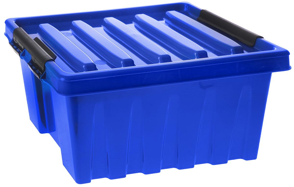 Контейнер для хранения Роксор, цвет: синий, черный, 16 л10503Контейнер Роксор выполнен из полипропилена, предназначен для хранения пищевых продуктов, инструментов, швейных принадлежностей, бумаг и многого другого. Универсальный контейнер для хранения с крышкой оснащен оригинальными ручками-фиксаторами, которые надежно и плотно удерживают крышку в закрытом положении. Толстые стенки и ребра жесткости придают ящикам особую прочность, уменьшая риск повреждения как самого ящика, так и его содержимого.
