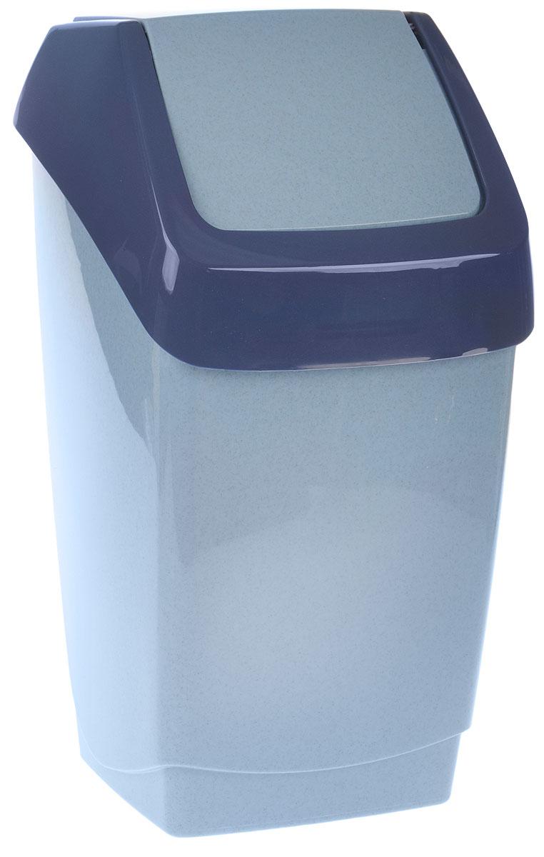 Контейнер для мусора Idea Хапс, цвет: голубой, синий, 15 лМ 2471Контейнер для мусора Idea Хапс изготовлен из прочного полипропилена. Контейнер снабжен удобной съемной крышкой с подвижной перегородкой. Благодаря лаконичному дизайну такой контейнер идеально впишется в интерьер и дома, и офиса. Размер контейнера: 25 х 24 х 46 см.