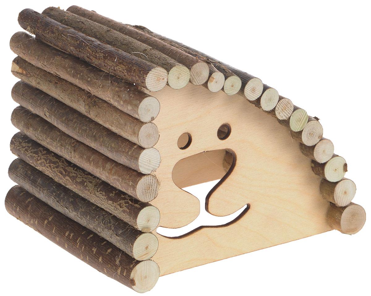 Домик для грызунов Zoobaloo Геркулес, правый угол, 18 х 15 х 14 см623RZoobaloo Геркулес - это комфортный деревянный домик для грызунов. Домик послужит надежным укрытием вашему любимцу, а также идеальным местом для сна и отдыха. Домик весьма просторный, имеет оригинальную округлую крышу, изготовленную из прутьев орешника, и удобный вход. Домик позволит вашему грызуну ощутить максимальный комфорт и уют.