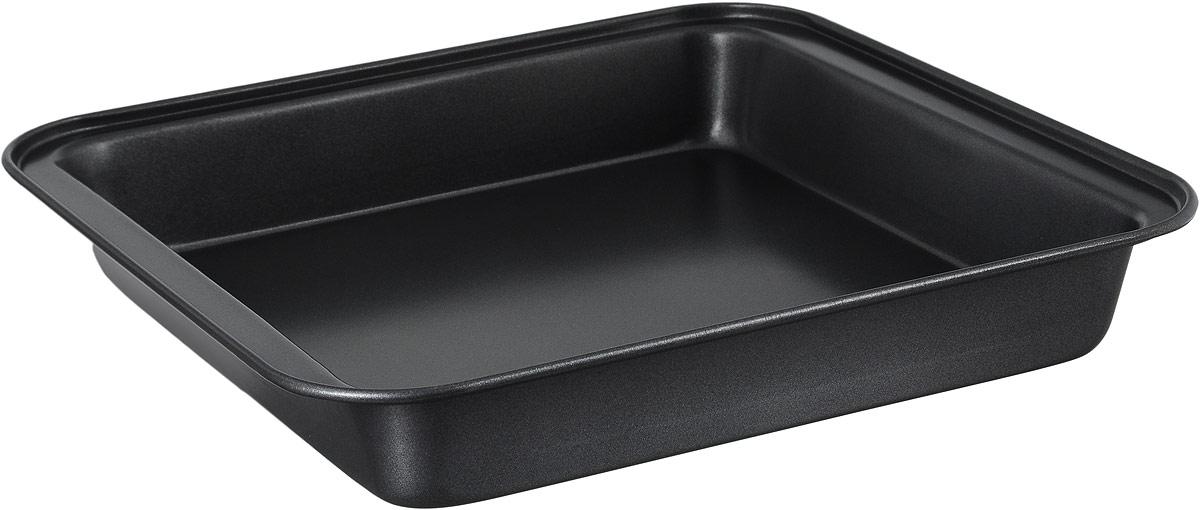Противень Termico Classico, с антипригарным покрытием, 27 x 25,5 см220423Противень Termico Classico изготовлен из высококачественной углеродистой стали с антипригарным покрытием, благодаря чему продукты не пригорают и не прилипают к стенкам посуды. Кроме того, готовить можно с добавлением минимального количества масла и жиров. Антипригарное покрытие также обеспечивает легкость мытья. Стальные стенки посуды быстро распределяют тепло, благодаря чему продукты запекаются равномерно. Для чистки нельзя использовать абразивные чистящие средства и жесткие губки. Размер формы по-верхнему краю: 27 х 25,5 см. Высота стенки формы: 4 см.