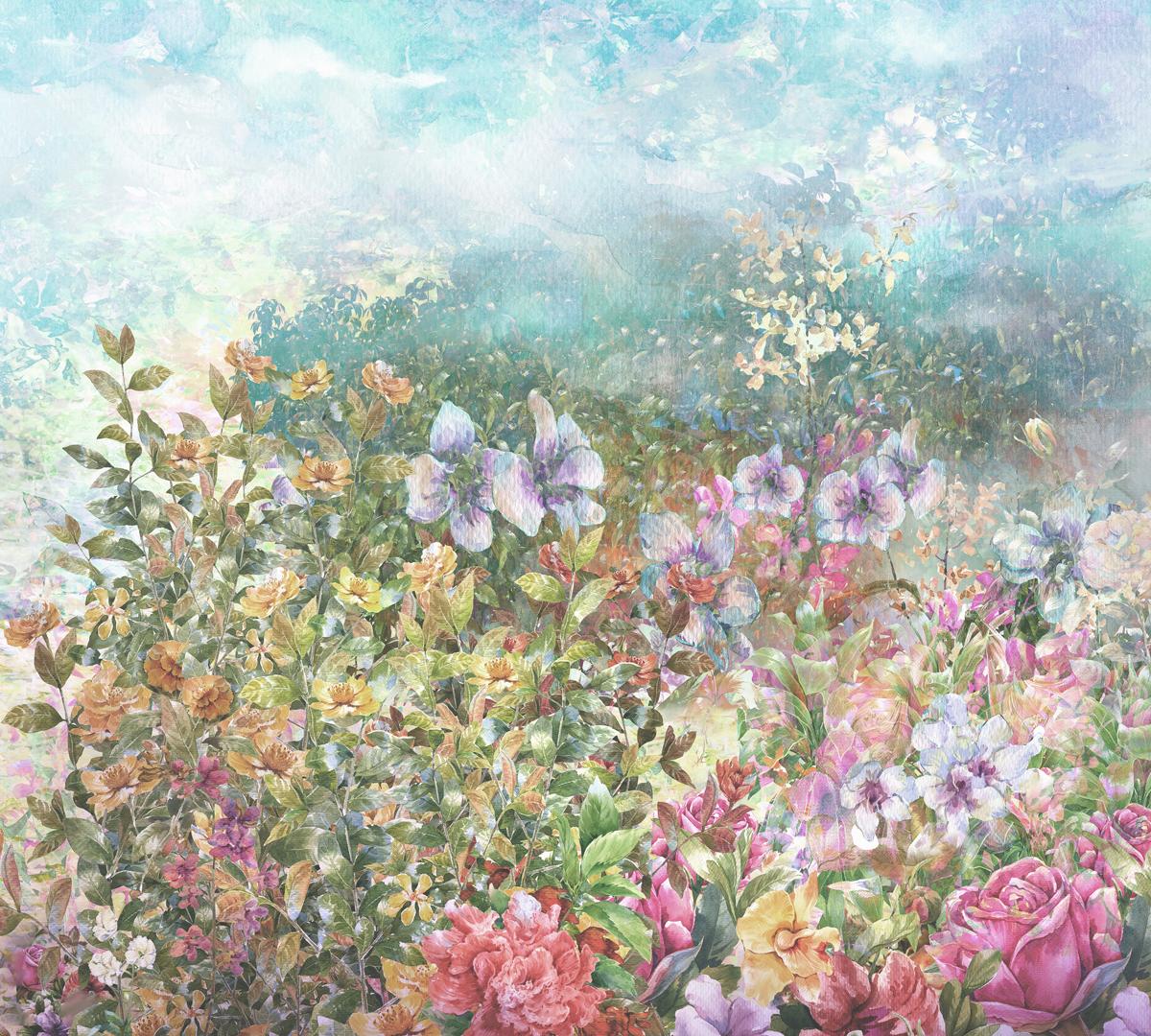 Фотообои Barton Wallpapers Цветы, 300 x 270 см. F01203F01203Флизелиновые фотообои Barton Wallpapers Цветы. Превосходное цифровое качество изображения, экологичные, износостойкие, не пахнут, стойки к выцветанию, просты в поклейке. Размер: ширина 300 см, длина 270 см.