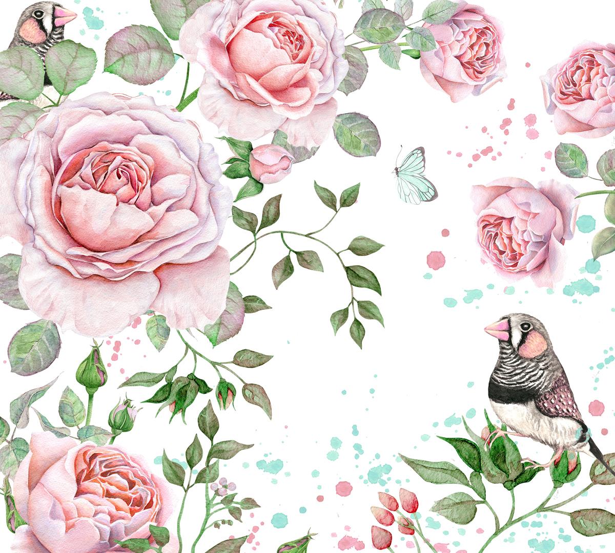 Фотообои Barton Wallpapers Цветы, 300 x 270 см. F10803F10803Флизелиновые фотообои Barton Wallpapers Цветы. Превосходное цифровое качество изображения, экологичные, износостойкие, не пахнут, стойки к выцветанию, просты в поклейке. Каждому человеку хочется внести индивидуальности в свой интерьер и сделать его уютней. Английские обои Barton Wallpapers сделают это лучше всего!