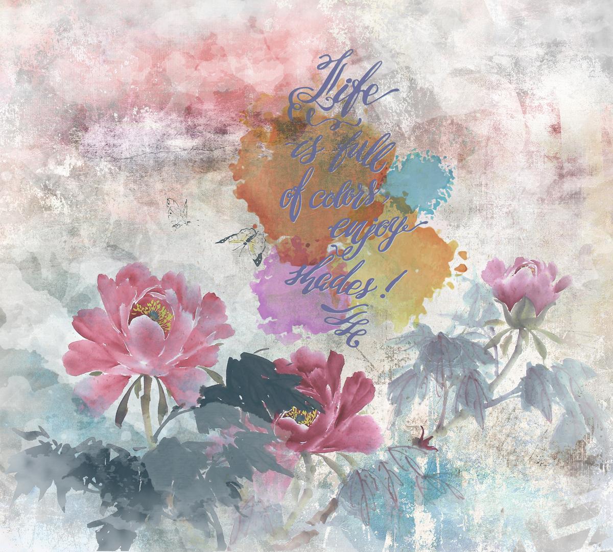 Фотообои Barton Wallpapers Цветы, 300 x 270 см. F20403F20403Флизелиновые фотообои Barton Wallpapers Цветы. Превосходное цифровое качество изображения, экологичные, износостойкие, не пахнут, стойки к выцветанию, просты в поклейке. Каждому человеку хочется внести индивидуальности в свой интерьер и сделать его уютней. Английские обои Barton Wallpapers сделают это лучше всего!