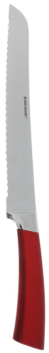Нож для хлеба Attribute Knife Tango, длина лезвия 20 смAKT220Нож для хлеба Attribute Knife Tango изготовлен из первоклассной нержавеющей стали и предназначен для нарезки хлеба. Лезвие сделано из высококачественной хромо- молибденово-ванадиевой стали из Германии. Технология холодной закалки обеспечивает долгую заточку и повышенную устойчивость к коррозии. Такой нож станет прекрасным дополнением к коллекции ваших кухонных аксессуаров и не займет много места при хранении. Общая длина ножа: 33,5 см.