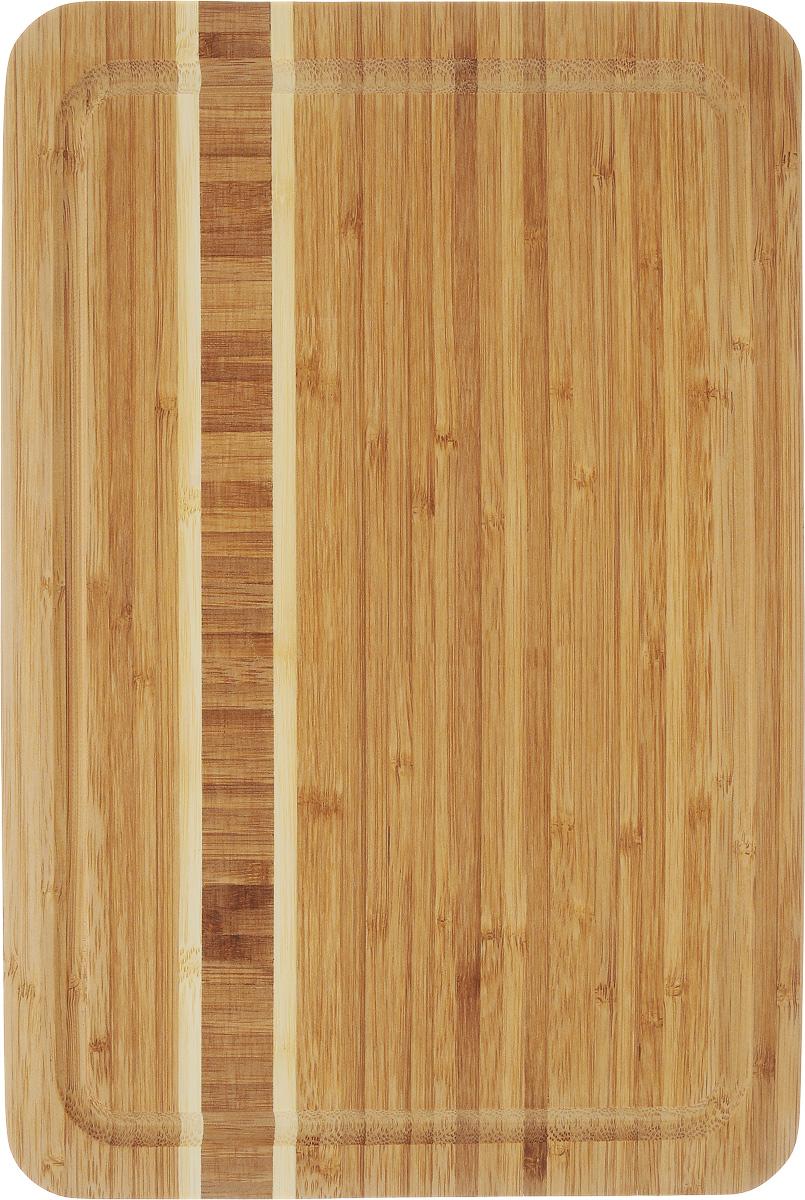 Доска разделочная Termico, 33 x 23 x 1,8 см220739Разделочная доска Termico выполнена из 100% натурального бамбука. Прочная, долговечная доска не боится воды и не впитывает запахи. Легко моется, бережно относится к лезвию ножа. По краям доска оснащена бортиком для стока жидкости. Такая доска понравится любой хозяйке и будет отличной помощницей на кухне.