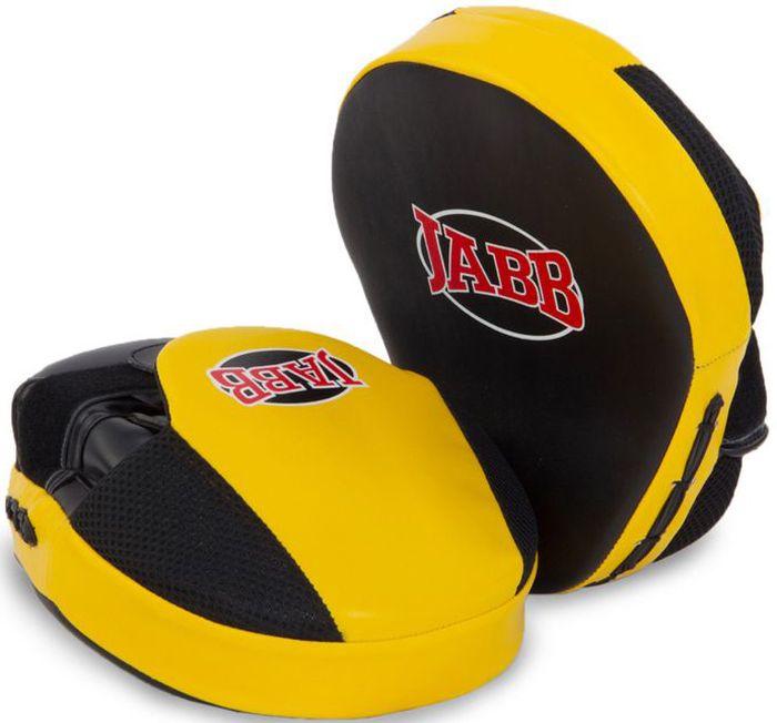 Лапа боксерская Jabb JE-2190, цвет: черный, желтый, 2 шт311054Застежка: Velcro для фиксации на руке Материал: полиуретан Наполнитель: синтетическая пена Рекомендованы: для тренирующихся спортсменов