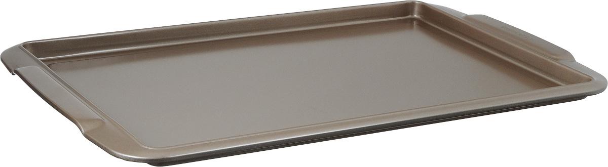 Противень Tescoma Delicia, прямоугольный, с антипригарным покрытием, 43 x 27 х 1,5 см623512Противень Tescoma Delicia, выполненный из высококачественной нержавеющей стали с антипригарным покрытием, идеально подойдет для приготовления домашней выпечки. Технология антипригарного покрытия способствует оптимальному распределению тепла. Противень легко чистить и мыть. Подходит для использования во всех типах духовых шкафов. Размер противня (с учетом ручек): 43 x 27 х 1,5 см. Внутренний размер противня: 37 х 25 х 1,5 см.