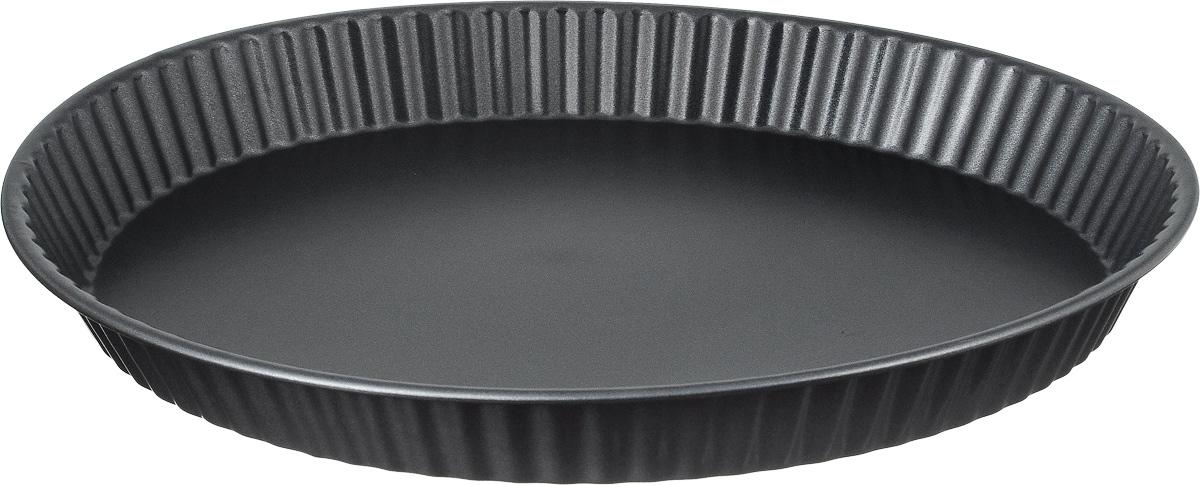 Форма для пирога Termico Classico, с антипригарным покрытием, диаметр 31 см94672Форма для пирога Termico Classico выполнена из углеродистой стали с внутренним антипригарным покрытием с рифлеными бортами. Углеродистая сталь - это прочный, легкий и долговечный материал, который прекрасно проводит тепло, помогая выпечке хорошо подходить и равномерно пропекаться, и гарантирует всегда великолепный результат. Слой антипригарного покрытия полностью устраняет пригорание пирога и его прилипание к стенкам и дну. Выпечка легко извлекается из формы. Экологически безопасное антипригарное покрытие не содержит PFOA, свинца и кадмия. Изделие нельзя мыть в посудомоечной машине, нельзя использовать в микроволновой печи. Использовать только пластиковые аксессуары. Форма выдерживает температуру до 250°C. Внутренний диаметр формы: 26 см.Общий размер формы: 31 х 31 х 3,5 см.