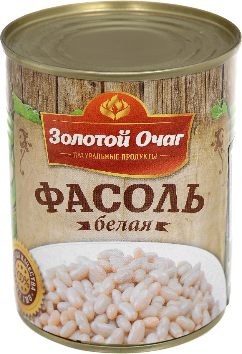 Золотой Очаг фасоль белая консервированная, 360 г 4607816070041