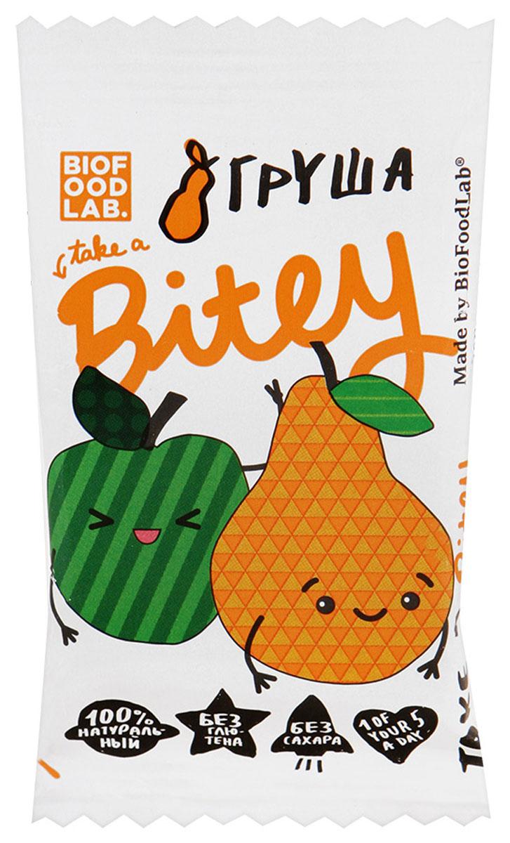 Take A Bitey Груша батончик фруктово-ягодный, 25 г4650062591020Абсолютно натуральный перекус из груши и яблок для маленьких открывателей. В каждом батончике удивительное сочетание полезных фруктов и ягод, которое придется по вкусу начинающим гурманам. Уважаемые клиенты! Обращаем ваше внимание, что полный перечень состава продукта представлен на дополнительном изображении.