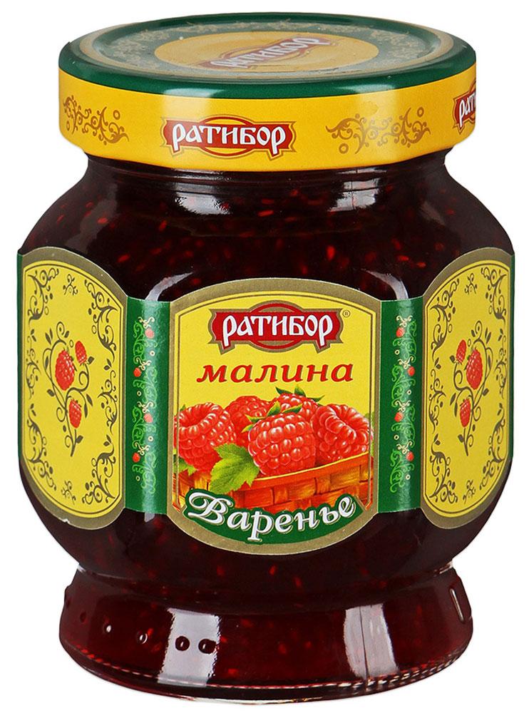 Ратибор варенье Малина, 400 г0120710Уникальные целебные свойства нежных, ароматных сладких ягод малины хранятся в варенье, изготовленном по традиционным домашним рецептам.