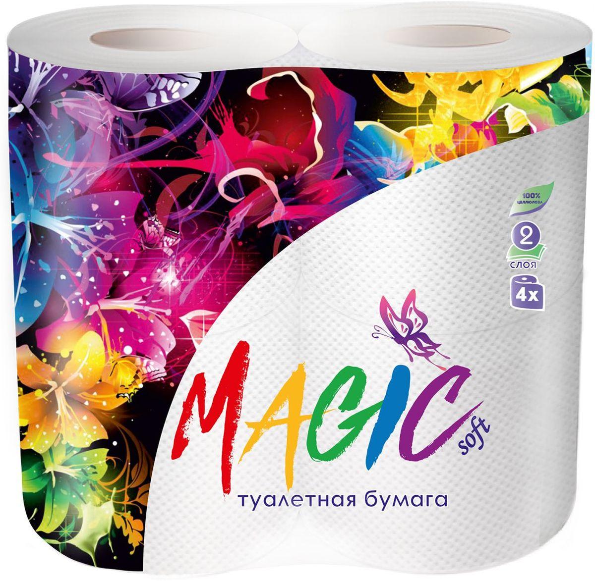 Туалетная бумага Magic Soft, цвет: белый, 4 рулона20010Для бытового и санитарно-гигиенического назначения. Одноразового использования.