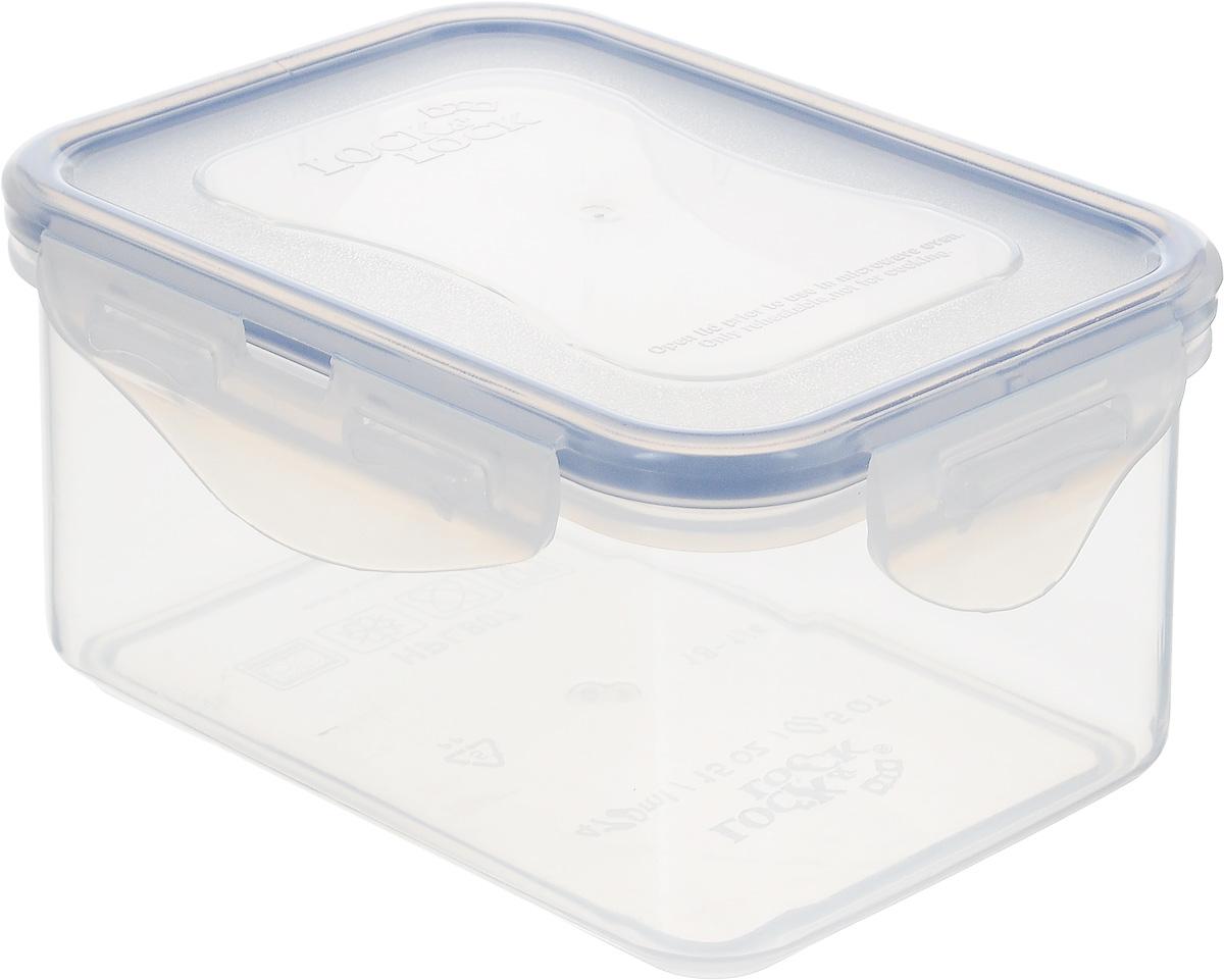 Контейнер пищевой Lock&Lock Classics, 470 млHPL807Контейнер Lock&Lock Classics изготовлен из высококачественного пластика, который не содержит Бисфенол-А, не выделяет вредных веществ. Герметичная пластиковая крышка снабжена уплотнительной резинкой, надежно закрывается с помощью четырех защелок. Контейнер с абсолютной непроницаемостью воды, воздуха и любых запахов. Обеспечивает длительное сохранение свежести продуктов. Подходит для мытья в посудомоечной машине, хранения в холодильных и морозильных камерах, использования в микроволновых печах.