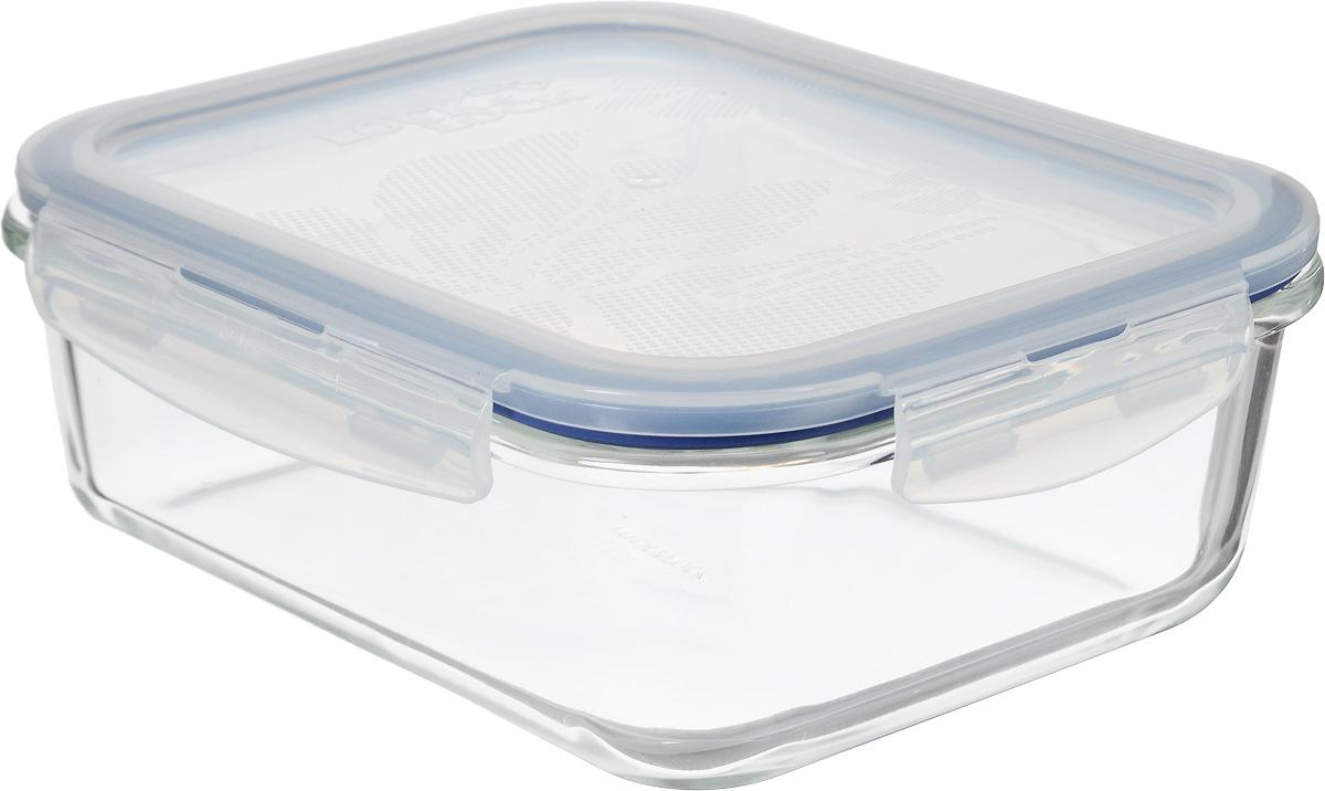 Контейнер пищевой Lock&Lock Glass, 1 лLLG445Контейнер Lock&Lock Glass выполнен из боросиликатного стекла, которое выдерживает сильное нагревание (до +400°С) и резкое охлаждение. Усиленная ударопрочность (при механических повреждениях стекло не разлетается на множество осколков и не имеет острых краев), стойкость к деформации и окраске. Герметичная пластиковая крышка снабжена уплотнительной силиконовой прокладкой и надежно закрывается с помощью четырех защелок. Подходит для мытья в посудомоечной машине, хранения в холодильных и морозильных камерах, использования в микроволновых печах.