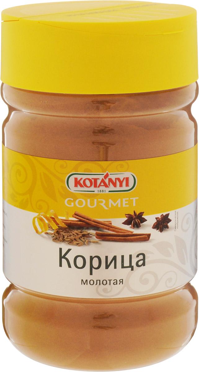 Kotanyi Корица молотая, 600 г249211Корица имеет пряный, сладковатый вкус и интенсивный аромат. Она прекрасно сочетается с гвоздикой, ванилью, а также с кайенским перцем, кориандром и мускатным орехом. Корицу добавляют во все виды сладких блюд и выпечки, печеные фрукты и горячие напитки. Она является неотъемлемым ингредиентом большинства блюд азиатской, восточной и арабской кухни.