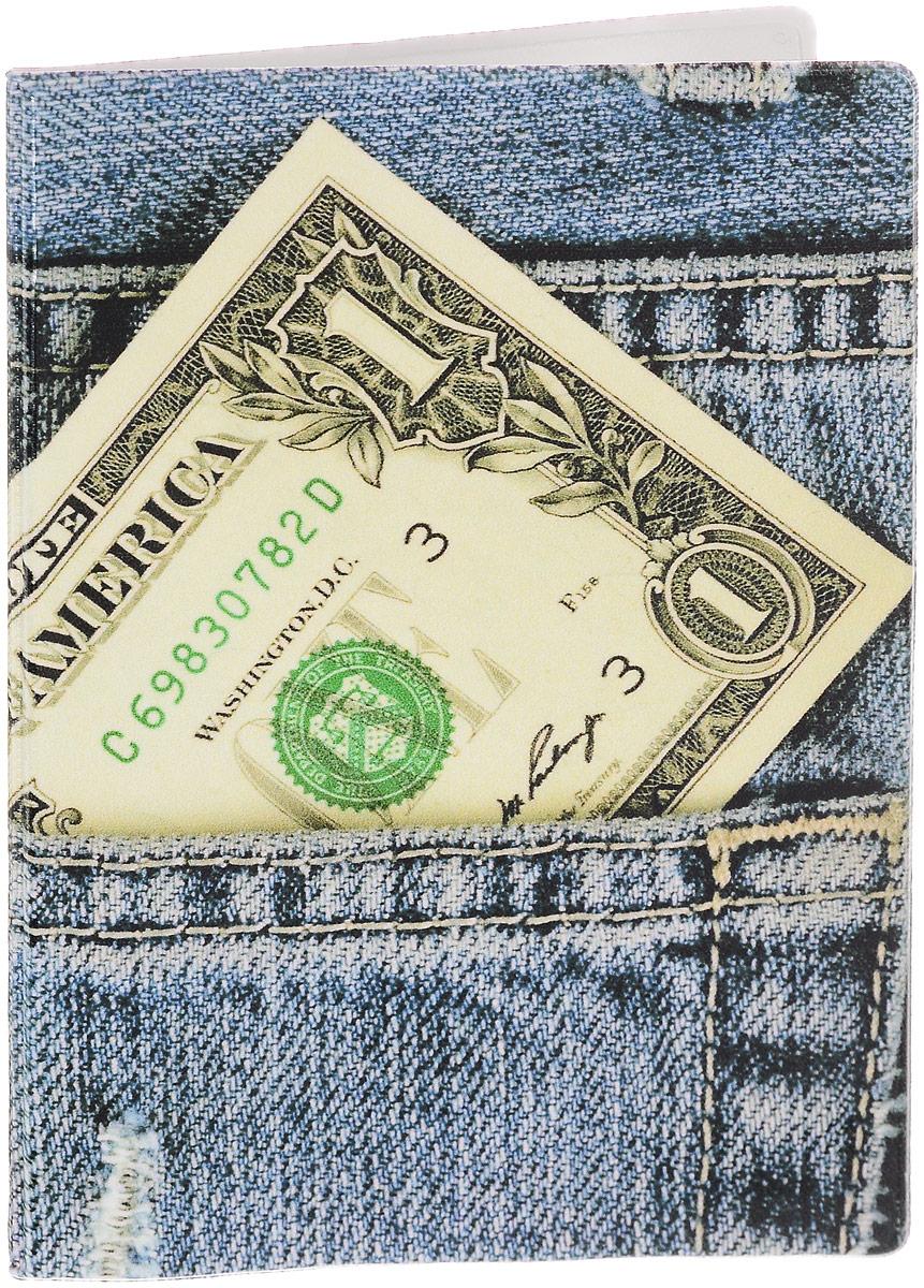 Обложка для паспорта Эврика Джинсы, цвет: голубой. 93291021201_01Стильная обложка для паспорта Эврика Джинсы выполнена из ПВХ. Обложка оформлена оригинальным принтом, который нанесен специальным образом и защищен от стирания. Внутри расположены боковые прозрачные карманы из ПВХ для фиксации паспорта.