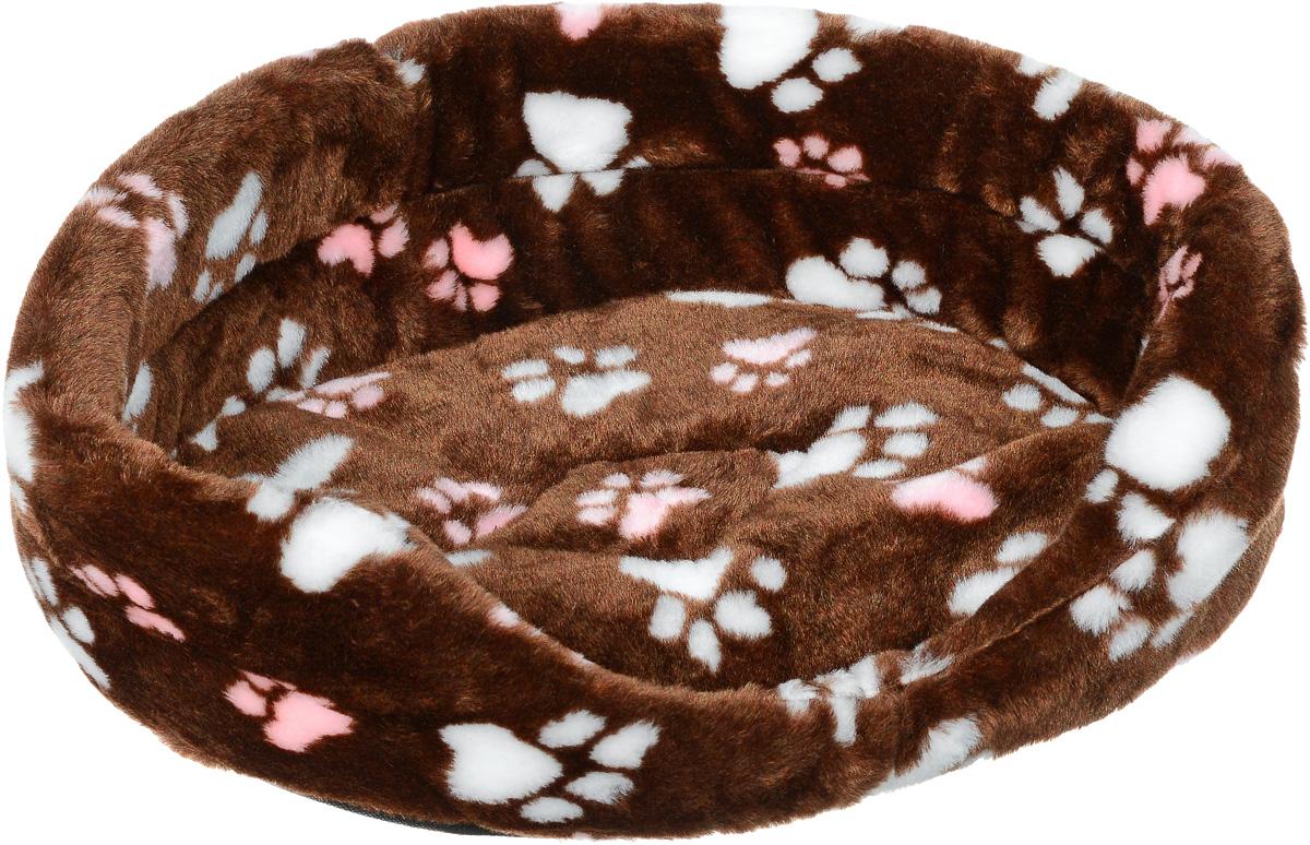 Лежак для животных Elite Valley, цвет: коричневый, белый, розовый, 43,5 х 30 х 15 см0120710Лежак Elite Valley обязательно понравится вашему питомцу. Изделие выполнено из искусственного меха, а наполнитель - из поролона. Такой материал не теряет своей формы долгое время. Внутри имеется мягкая съемная подстилка.Высокие борта обеспечат вашему любимцу уют, ему сразу же захочется забраться на лежак, там он сможет отдохнуть и подремать в свое удовольствие. Мягкий лежак станет излюбленным местом вашего питомца, подарит ему спокойный и комфортный сон, а также убережет вашу мебель от многочисленной шерсти.