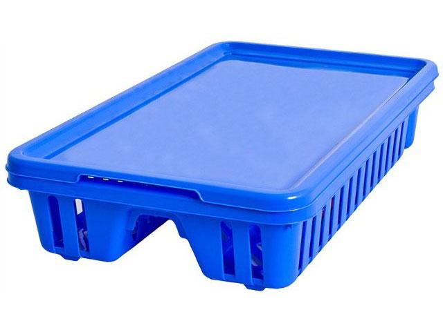 Сушилка для посуды Curver Мини, с поддоном, цвет: синий, 42 х 26,5 х 8,2 см13402-082Сушилка для посуды Curver Мини изготовлена из высококачественного прочного пластика. Изделие оснащено пластиковым поддоном для стекания воды и содержит секции для вертикальной сушки посуды и столовых приборов. Такая сушилка не займет много места на кухне и поможет аккуратно хранить вашу посуду. Размер сушилки: 42 см х 26,5 см х 8,2 см. Размер поддона: 42,5 см х 27,5 см х 1,2 см.