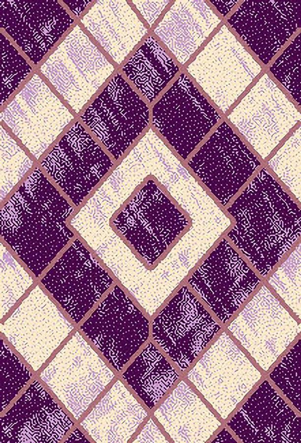 Ковер ART Carpets Триа, цвет: сиреневый, 120 х 180 см. 203420130212182566203420130212182566Ворс 100% полиэстер, букле