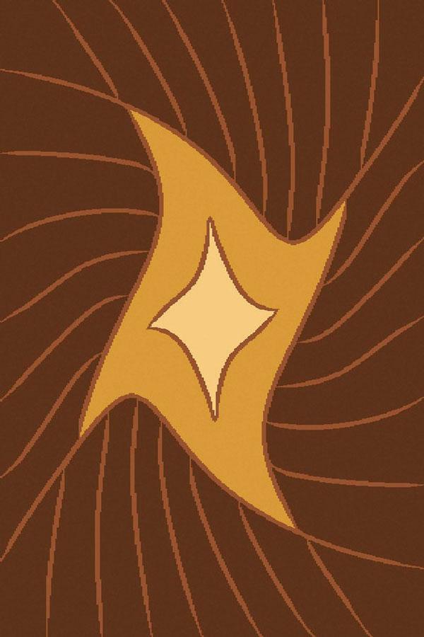Ковер ART Carpets Триа, цвет: золотой, 120 х 180 см. 203420130212182568203420130212182568Ворс 100% полиэстер, букле