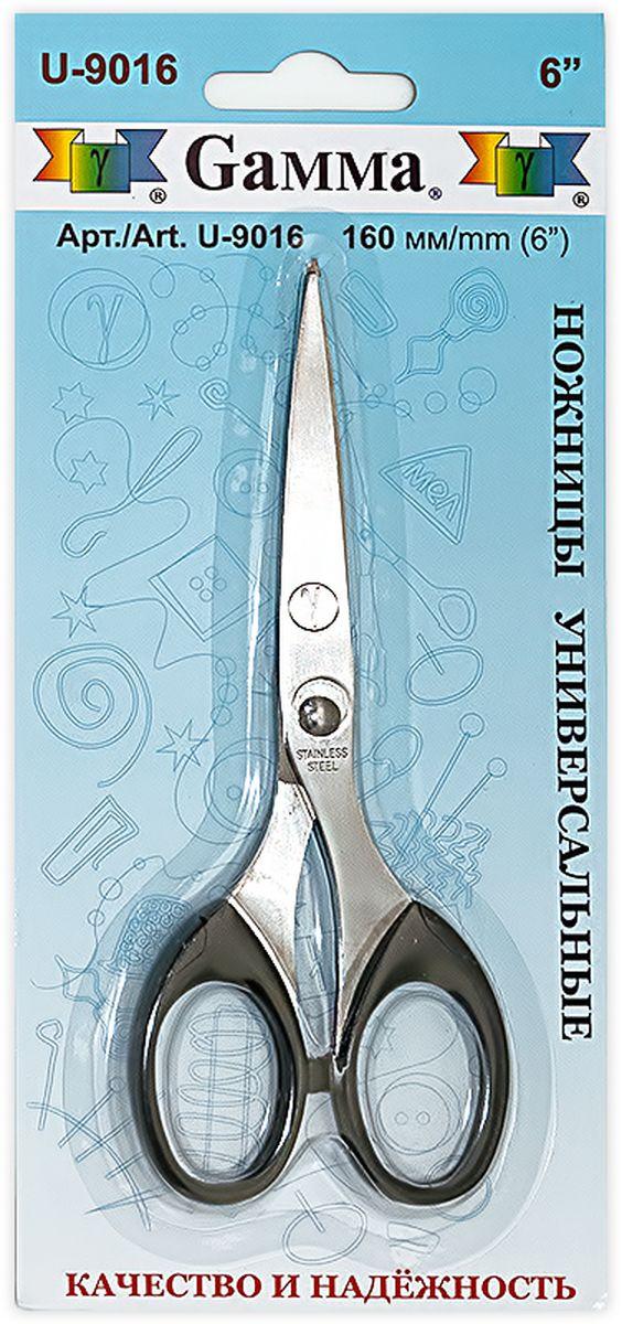 Ножницы универсальные Gamma, длина 16 смU-9016Универсальные ножницы Gamma изготовлены из инструментальной стали и пластика. Используются для рукоделия, в офисе и быту для различных целей. Режущие поверхности сходятся идеально. Общая длина ножниц: 16 см. Длина лезвия: 7,5 см.