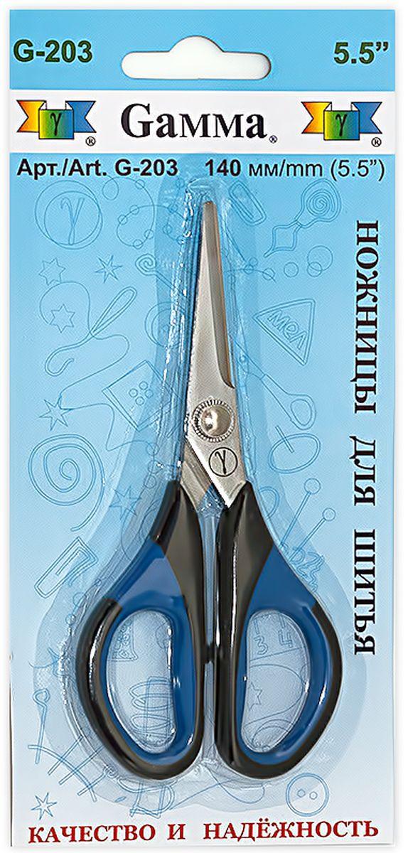 Ножницы для шитья и рукоделия Gamma, длина 14 смFS-54110Ножницы Gamma изготовлены из инструментальной стали с содержанием хрома, который придает инструменту дополнительную прочность. Используются для шитья, рукоделия и в быту для различных целей. Оснащены пластиковыми термостойкими ручками, которые не плавятся при соприкосновении с утюгом. Имеют небольшой размер, легкие, удобно ложатся в руке.Общая длина ножниц: 14 см.Длина лезвия: 5 см.