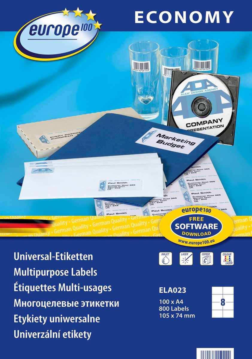 Avery Zweckform Этикетки самоклеящиеся Европа-100 105 х 74 мм 100 листов ELA023