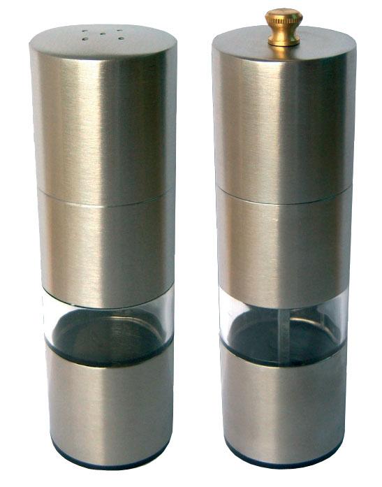 Набор для специй Bohmann. 7810BH7810BHНабор для специй 2 Предмета. Измельчитель для перца 14см & Солонка 13см. Стальной корпус. Прозрачное окно. Оцинкованный металлический измельчитель.