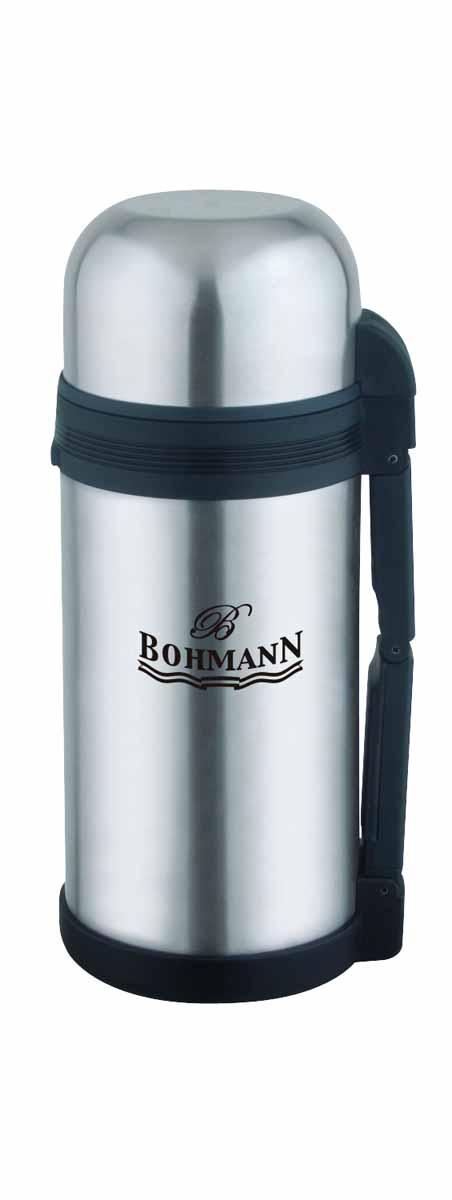 Термос Bohmann, широкое горло, 1,5 л. 4215BH/12/б/чехла4215BH/12/б/чехлаДорожный универсальный термос из нержавеющей стали 1,5л для напитков и вторых блюд. Небьющийся. Изолированная крышка с чашкой внутри. Складывающаяся ручка. Клапан для впуска воздуха. Объём 1,5 л.