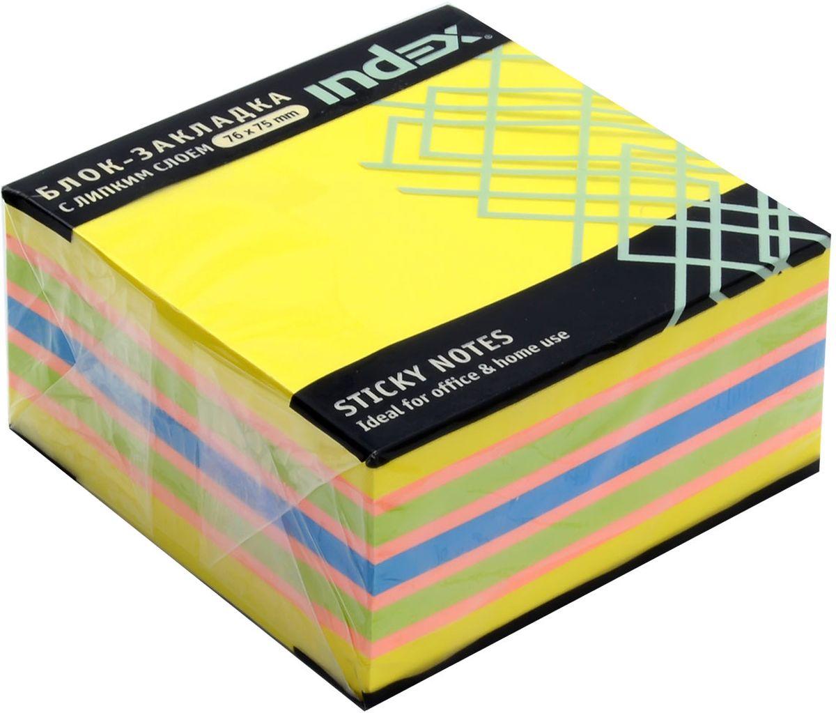 Index Бумага для заметок с липким слоем цвет желтый 400 листов I433812I433812Бумага для заметок с липким слоем, размер 76 х 75 мм, 400 листов. Клеевой слой - 21 Н/м, плотность бумаги - 75г/кв.м. Не оставляет следов после использования, лист может крепиться повторно.