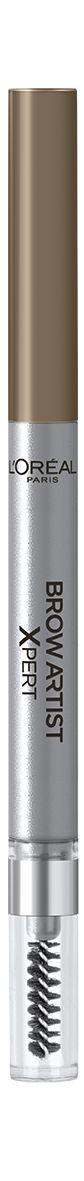 LOreal Paris Механический карандаш для бровей Brow Artist Expert, Оттенок 102, Холодный блондA8997600Механический карандаш для бровей для идеально очерченных бровей любой формы.