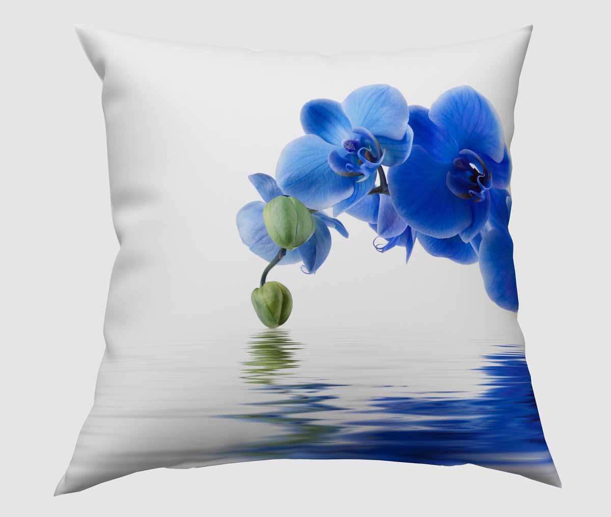 Подушка декоративная Сирень Синяя орхидея, 40 х 40 см531-401Декоративная подушка Сирень Синяя орхидея, изготовленная из габардина (100% полиэстер), прекрасно дополнит интерьер спальни или гостиной. Подушка оформлена красочным изображением. Внутри - мягкий наполнитель из холлофайбера (100% полиэстер). Красивая подушка создаст атмосферу тепла и уюта в спальне и станет прекрасным элементом декора.