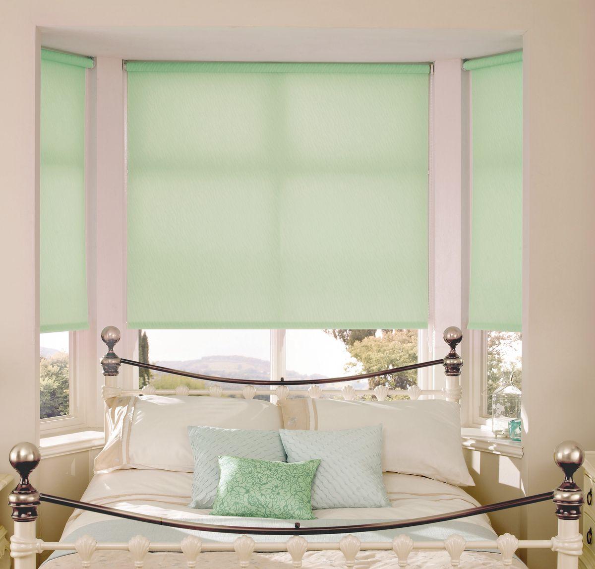 Штора рулонная Эскар Миниролло, цвет: светло-зеленый, ширина 57 см, высота 170 см19201Рулонная штора Эскар Миниролло выполнена из высокопрочной ткани, которая сохраняет свой размер даже при намокании. Ткань не выцветает и обладает отличной цветоустойчивостью.Миниролло - это подвид рулонных штор, который закрывает не весь оконный проем, а непосредственно само стекло. Такие шторы крепятся на раму без сверления при помощи зажимов или клейкой двухсторонней ленты (в комплекте). Окно остается на гарантии, благодаря монтажу без сверления. Такая штора станет прекрасным элементом декора окна и гармонично впишется в интерьер любого помещения.