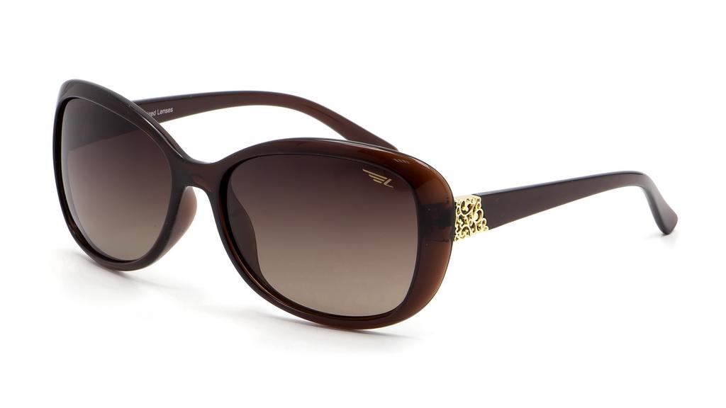 Очки женские поляризационные Legna, цвет: коричневый. S8404ABM8434-58AEСолнцезащитные очки LEGNA с поляризационными линзами превосходно предохраняют глаза от любого рода вредных бликов и УФ-лучей, что делает вождение безопасным и комфортным. Также очки LEGNA ничем не уступают самым известным маркам и брендам в эстетической части. Благодаря линзам премиум класса очки LEGNA прекрасно подходят для повседневной носки, занятий спортом, отдыха и конечно для использования за рулем.